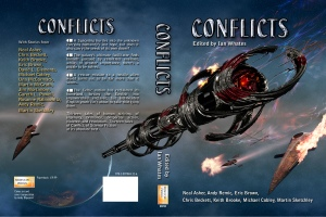 Conflicts anthology cover by Andy Bigwood